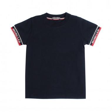 Moncler T-shirt blu jersey bambino - Moncler Kids 802340083907778mo19