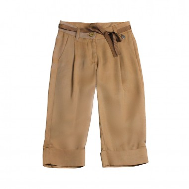 Dixie Kids Girls brown viscose trousers by Dixie ph84130g16dixie19