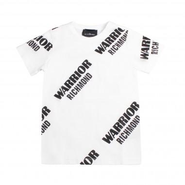 Richmond Boy white 'warrior' t-shirt by John Richmond Junior rbp19007ts19rich19