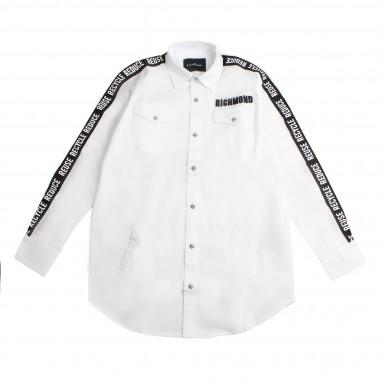 Richmond Boy white shirt w/sidebands by John Richmond Junior rbp19016ca-white19rich19