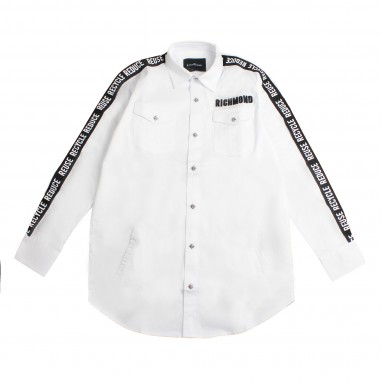 Richmond Camicia bambino bianca bande by John Richmond Kids rbp19016ca-white19rich19