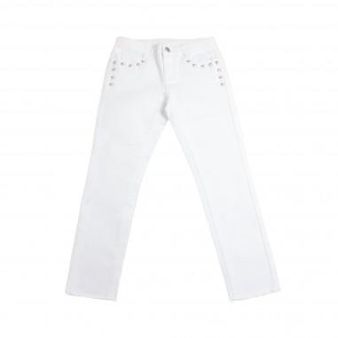 Richmond Pantalone bianco bambina charles by John Richmond Kids rgp19137pa19rich19