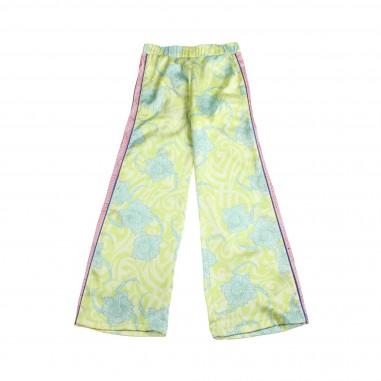 Richmond Pantalone rasatello floreale bambina by John Richmond Kids rgp19173pa19rich19