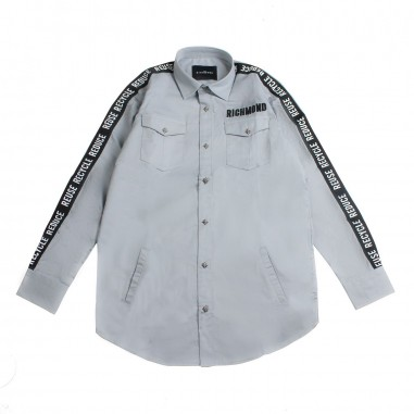Richmond Camicia bambino grigia bande by John Richmond Kids rbp19016ca-grey19rich19