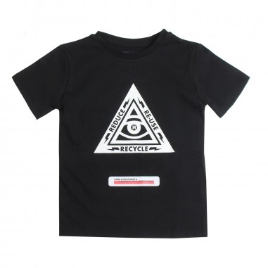 Richmond T-shirt bambino nera ecologica by John Richmond Kids rbp19194ts19rich19