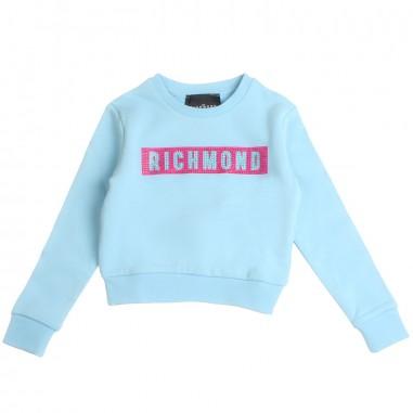 Richmond Felpa logo celeste bambina by John Richmond Kids rgp19208fe19rich19