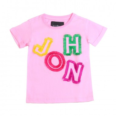 Richmond T-shirt bambina rosa cotone by John Richmond Kids rgp19021ts19rich19