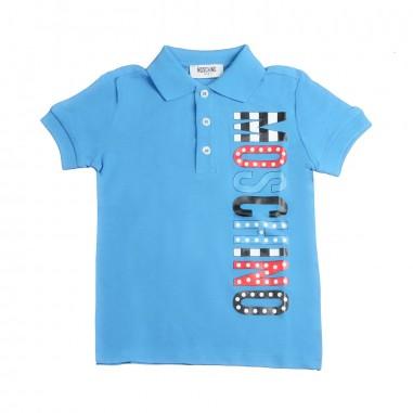 Moschino Kids Polo azzurra moschino bambino by Moschino Kids HQM01T-40181-LEA01
