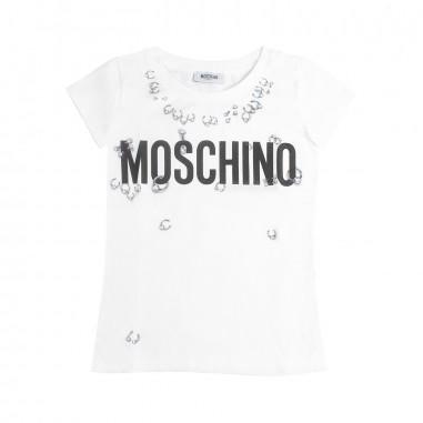 Moschino Kids Girls white moschino t-shirt by Moschino Kids H3M01H-10101-LBA00
