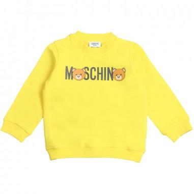 Moschino Kids Felpa logo gialla moschino by Moschino Kids MNF02P-50618-LDA00