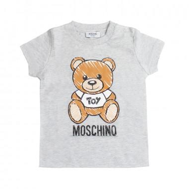 Moschino Kids Grey baby maxi t-shirt by Moschino Kids MXM01N-60901-LAA03