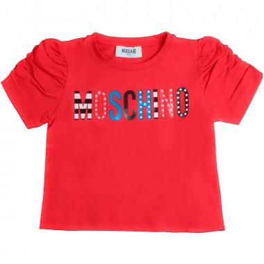 Moschino Kids Girl red moschino t-shirt by Moschino Kids HDM02W-50316-LBA10
