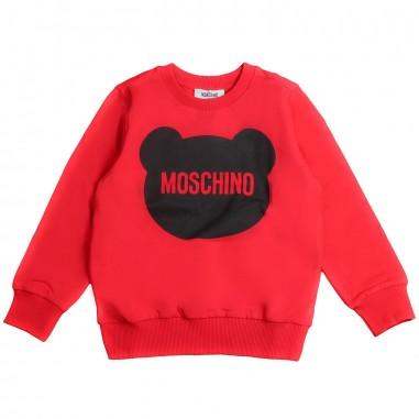 Moschino Kids Boys red logo sweatshirt by Moschino Kids HXF01Q-50316-LDA00