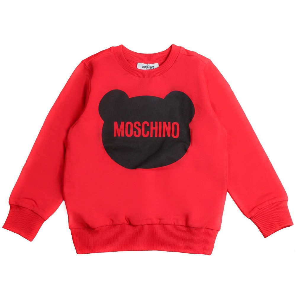 66a376a10 Moschino Kids - Boys red logo sweatshirt by Moschino Kids - Ivana ...