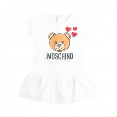 Moschino Kids Abitino rosso orsetto neonata by Moschino Kids MDV06U-10063-LDA12