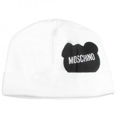 0e1b69309c Moschino Kids Cream moschino baby hat by Moschino Kids MOX031-10063-LBA00