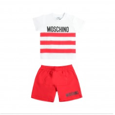 67e95bfa Moschino Kids Baby t-shirt & bermuda shorts set by Moschino Kids  MUK026-85005 ...