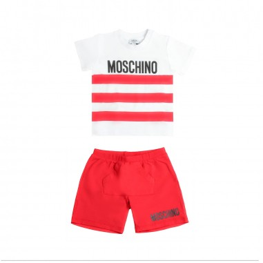 Moschino Kids T-shirt e bermuda jersey neonato by Moschino Kids MUK026-85005-LBA00