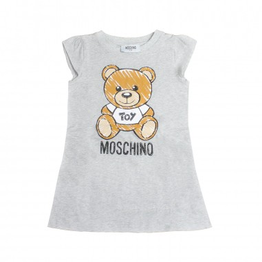 Moschino Kids Girls grey jersey moschino dress by Moschino Kids HAV059-60901-LBA00