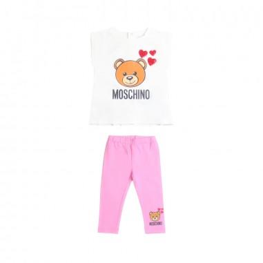Moschino Kids Baby girls jersey t-shirt e leggings set by Moschino Kids MDK01C-84170-LBA10