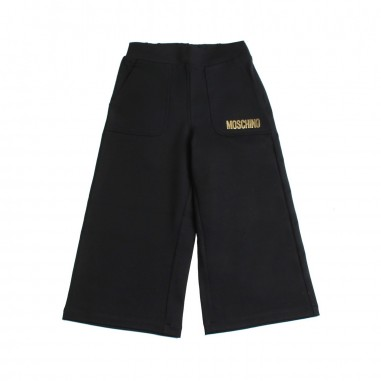 Moschino Kids Pantalone largo nero bambina by Moschino Kids HDP035-60100-LJA03