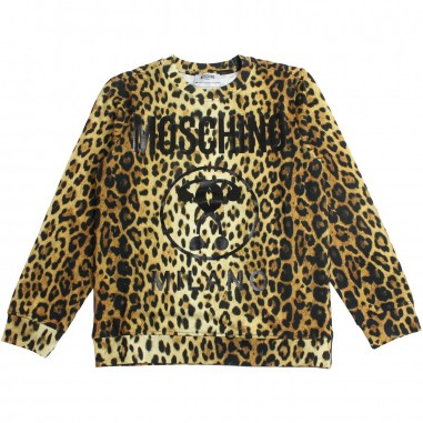 Moschino Kids Girl leopard print sweatshirt by Moschino Kids HUF02J-84302-LDB11
