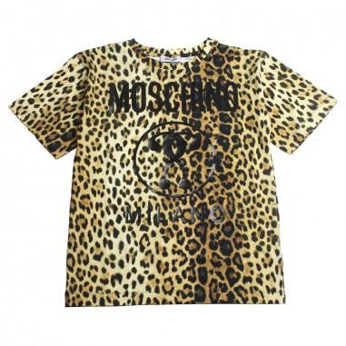 028261908dd1d0 Moschino Kids Girls moschino leopard print t-shirt by Moschino Kids  HUM029-84302-
