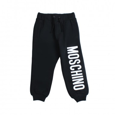 Moschino Kids Unisex logo cotton joggers by Moschino Kids HUP02S-60100-LCA06