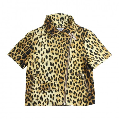 Moschino Kids Girls moschino leopard print jacket by Moschino Kids HDF023-84302-LDB11