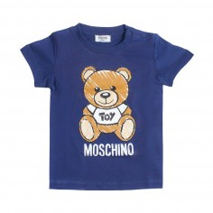 f6654d01 Moschino Kids Blue baby maxi t-shirt by Moschino Kids MXM01N-40016-LAA03