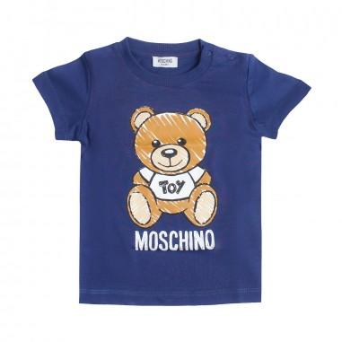 Moschino Kids Maxi t-shirt blu neonati by Moschino Kids MXM01N-40016-LAA03