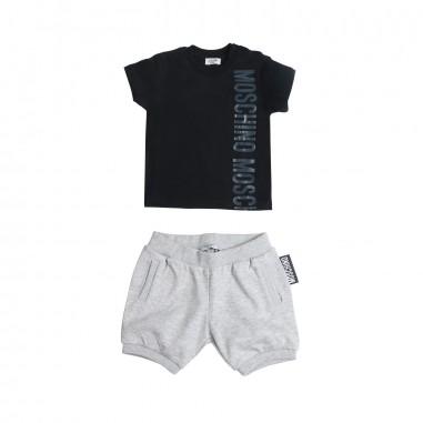 1c770e8ea49e Moschino Kids - Jersey t-shirt   bermuda shorts baby set by Moschino ...
