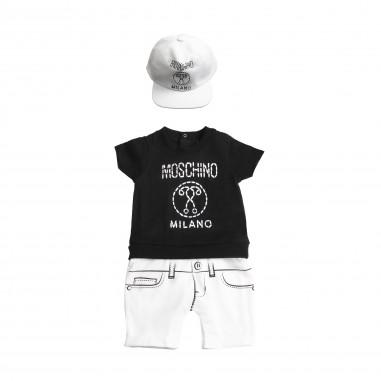 Moschino Kids Tutina stampa e cappello moschino neonati by Moschino Kids MUY024-81214-LAA02