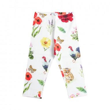 Monnalisa Girl stretch floral leggings by Monnalisa 11341519-19-0099monna19