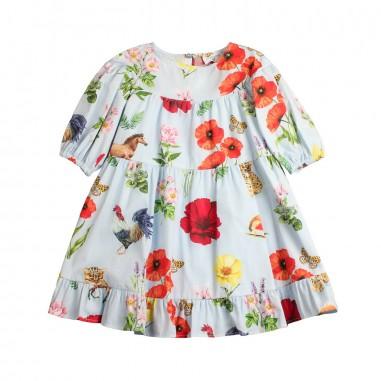 Monnalisa Girls wide floral poplin dress by Monnalisa 11391419-19-0058monna19