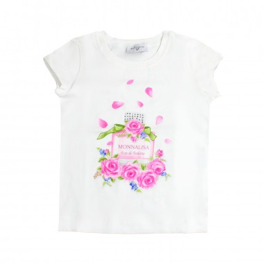 Monnalisa T-shirt stretch bambina profumo by Monnalisa 113610SM19-19-0001monna19