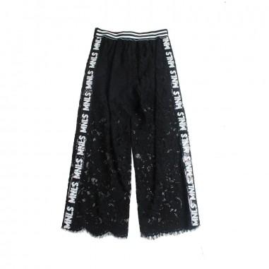 Monnalisa Girls black lace trousers by Monnalisa 49340019-19-0050monna19