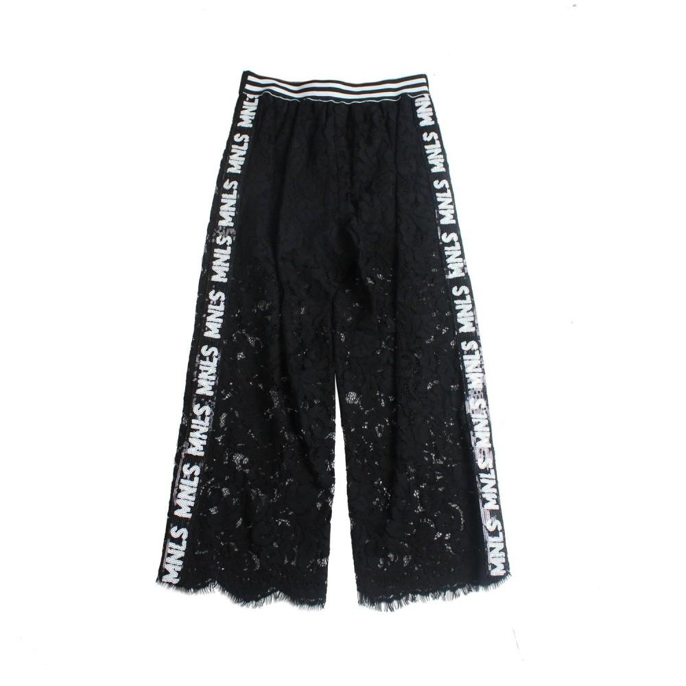 a903c0ef3631 Monnalisa - Girls black lace trousers by Monnalisa - Ivana Vesprini