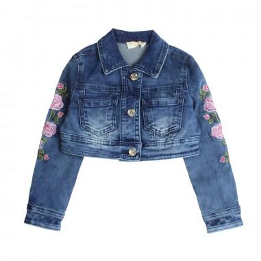 Monnalisa Girl blue denim jacket by Monnalisa 793100R319-19-0055monna19