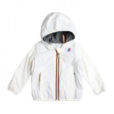 K-Way Girls white hooded raincoat by K-way Kids k008780w0d19