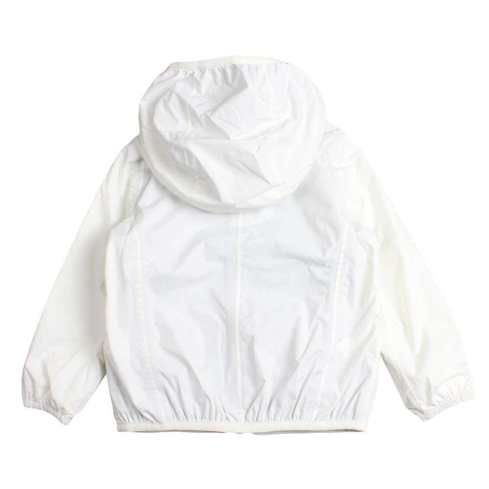 b7d8e4ac3de Girls white hooded raincoat by K-way Kids
