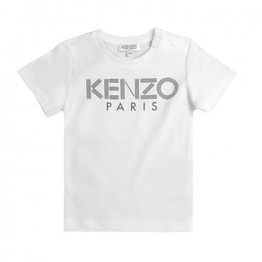 Kenzo T-shirt bianca con logo per bambini by Kenzo Kids KN105771kenzo19