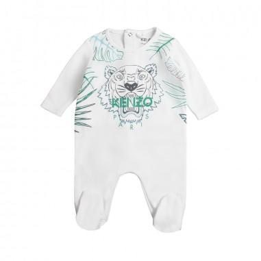 Kenzo Tutina bianca logo tiger per neonati by Kenzo Kids KN545231kenzo19