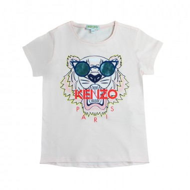 Kenzo Girls pink tiger w/sunglasses t-shirt by Kenzo Kids KN1015832kenzo19