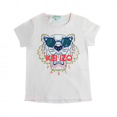 Kenzo T-shirt rosa tigre con occhiali per bambina by Kenzo Kids KN1015832kenzo19