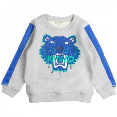 Kenzo Grey logo tiger sweatshirt by Kenzo Kids KN1566825kenzo19