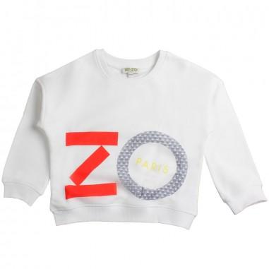 Kenzo Felpa bianca scritta grande per bambina by Kenzo Kids KN150581kenzo19