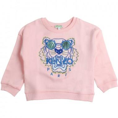 7d318987 Kenzo Girls pink tiger w/sunglasses sweatshirt by Kenzo Kids  KN1510833kenzo19