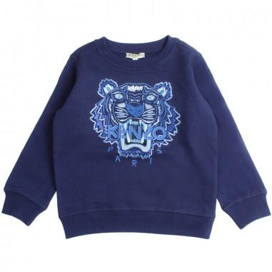 36a75307842 Kenzo Blue navy logo tiger sweatshirt by Kenzo Kids KN1569804Pkenzo19