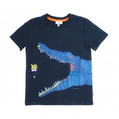 864df9b6d64 Paul Smith Junior Boys sapphire cocodrile t-shirt by Paul Smith Junior  5n10662492psmith19